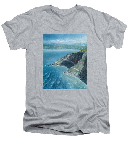 Palos Verdes Autumn Morning, No. 1 Men's V-Neck T-Shirt by Douglas Castleman