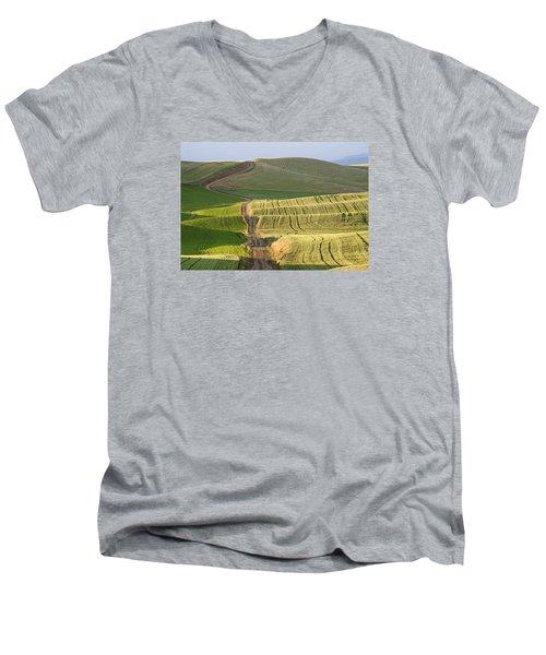 Palouse Backroads Men's V-Neck T-Shirt