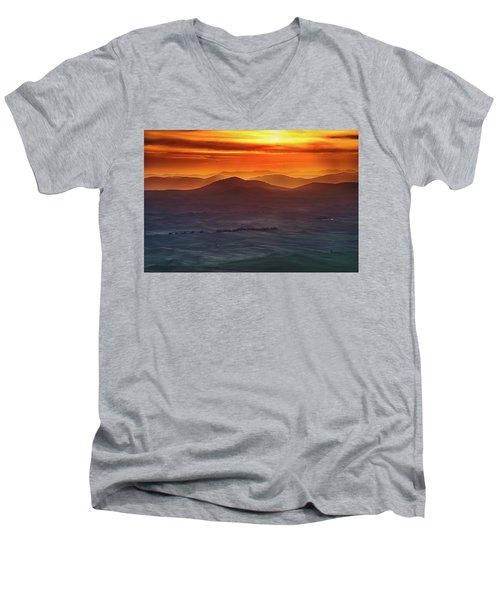 Palouse Sunrise  Men's V-Neck T-Shirt