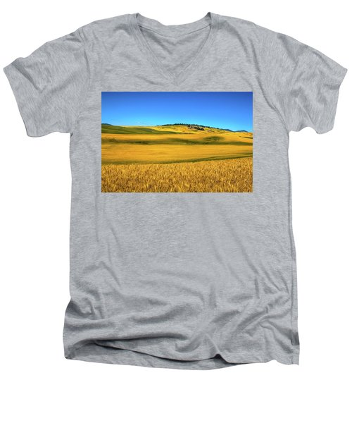Palouse Wheat Field Men's V-Neck T-Shirt
