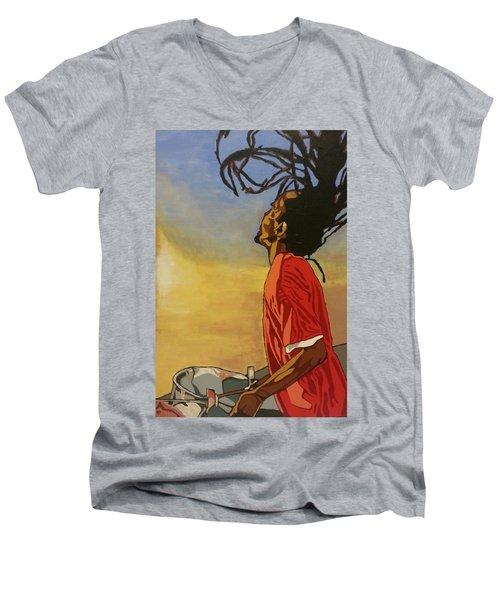 Pan Rising Men's V-Neck T-Shirt