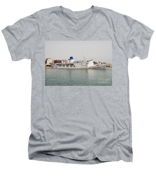 Panagia Tinou Ferry Sinking In Athens Men's V-Neck T-Shirt