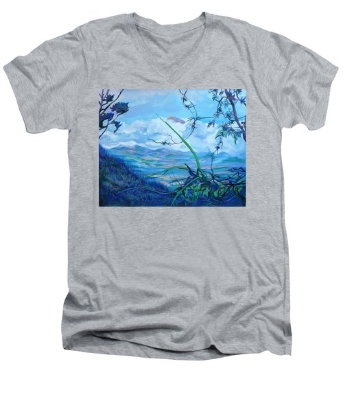Panama. Anton Valley Men's V-Neck T-Shirt by Anna  Duyunova