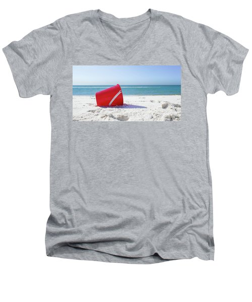 Panama Beach Florida Sandy Beach Men's V-Neck T-Shirt
