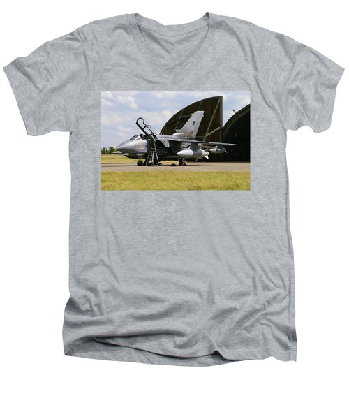 Panavia Tornado Gr4 Men's V-Neck T-Shirt by Tim Beach