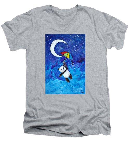 Panda Dreams Men's V-Neck T-Shirt