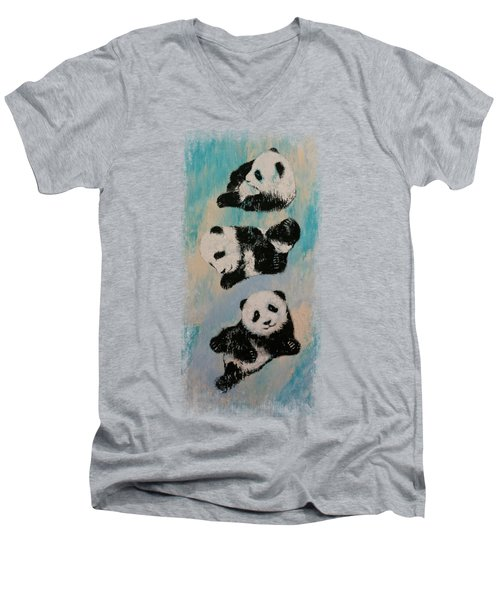 Panda Karate Men's V-Neck T-Shirt