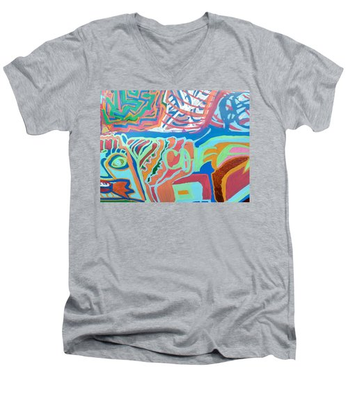 Panel On Hand Painted Ford Mondeo Men's V-Neck T-Shirt