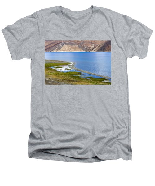 Pangong Tso, Ladakh, 2005 Men's V-Neck T-Shirt