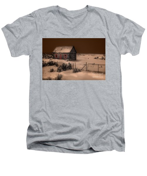 Panguitch Homestead Men's V-Neck T-Shirt by William Fields