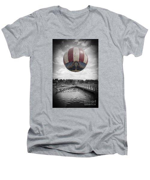 Panora Magique Men's V-Neck T-Shirt by Roger Lighterness