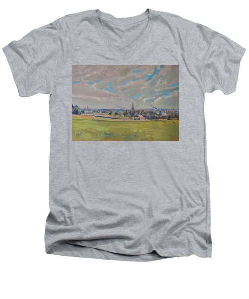 Panorama Maastricht Men's V-Neck T-Shirt by Nop Briex
