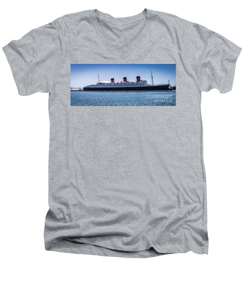 Panorama Of The Queen Mary Men's V-Neck T-Shirt