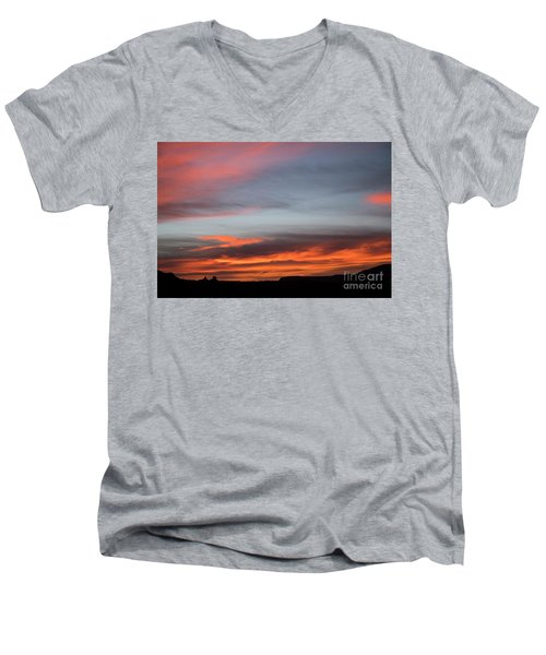 Panorama Point View Capital Reef Men's V-Neck T-Shirt