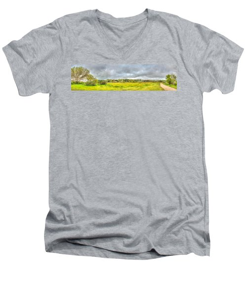 Panorama View Spring Time Men's V-Neck T-Shirt