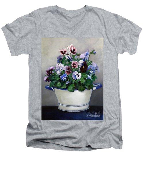 Pansies Men's V-Neck T-Shirt