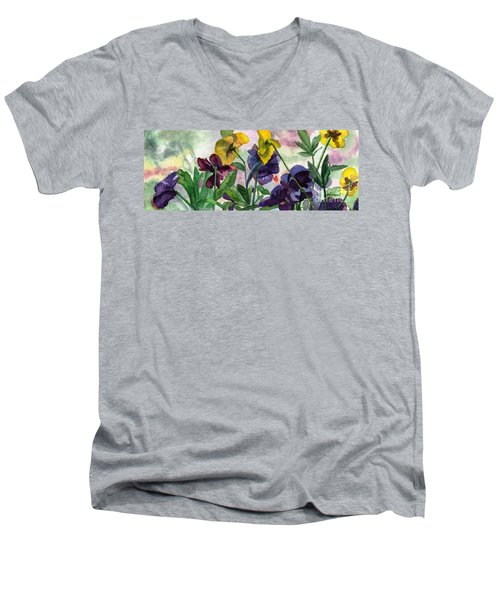 Pansy Field Men's V-Neck T-Shirt