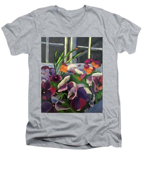 Pansy Frenzy Men's V-Neck T-Shirt