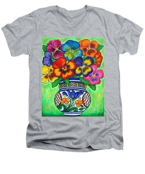 Pansy Parade Men's V-Neck T-Shirt