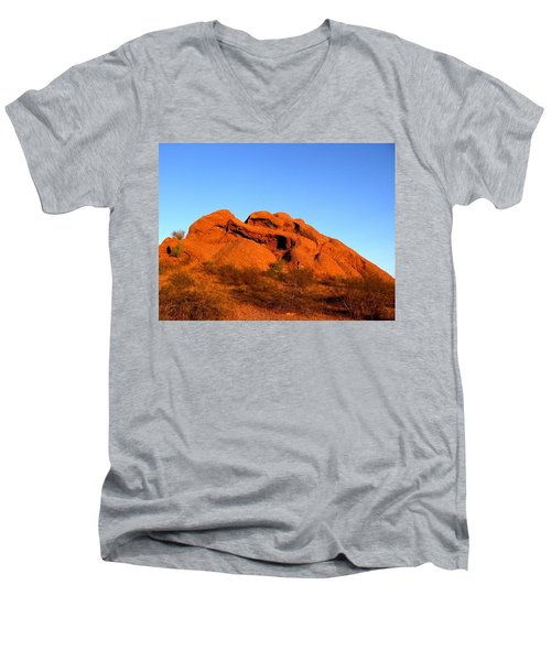 Men's V-Neck T-Shirt featuring the photograph Papago Park 2 by Michelle Dallocchio