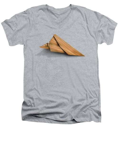 Paper Airplanes Of Wood 2 Men's V-Neck T-Shirt by Yo Pedro