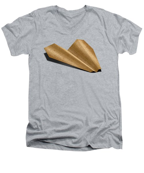 Paper Airplanes Of Wood 6 Men's V-Neck T-Shirt by YoPedro