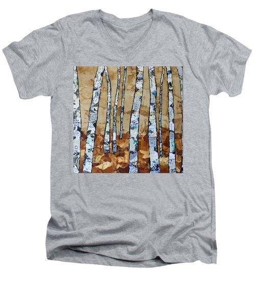 Paper Birch 3 Men's V-Neck T-Shirt