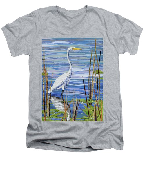 Paper Crane Men's V-Neck T-Shirt by Shawna Rowe