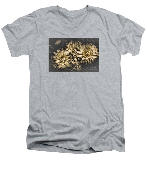 Men's V-Neck T-Shirt featuring the photograph Paper Flowers by Jorgo Photography - Wall Art Gallery