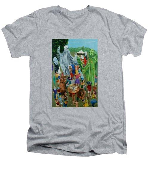 Paperhand Puppet Parade Men's V-Neck T-Shirt