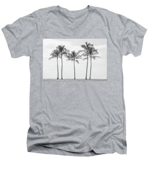 Paradise In Black And White II Men's V-Neck T-Shirt