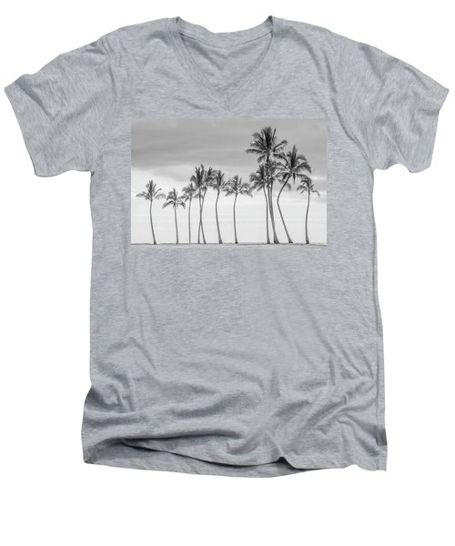Paradise In Black And White Men's V-Neck T-Shirt