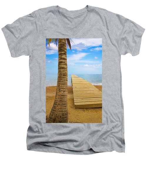 Paradise Men's V-Neck T-Shirt by Marlo Horne
