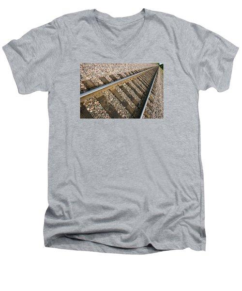Parallel Men's V-Neck T-Shirt