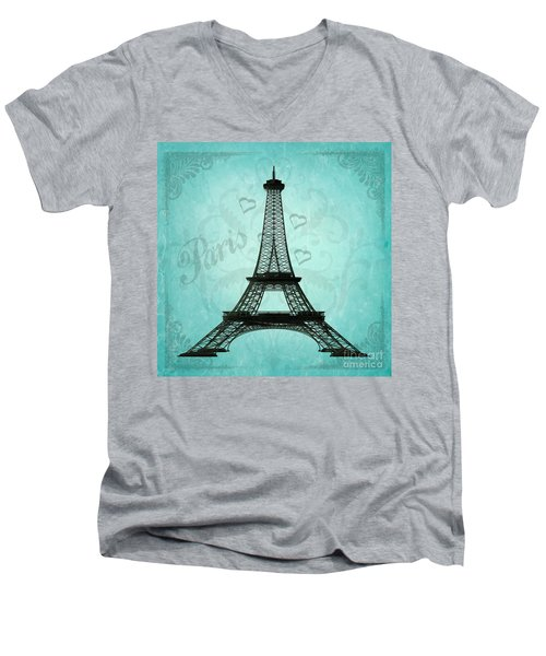Paris Collage Men's V-Neck T-Shirt