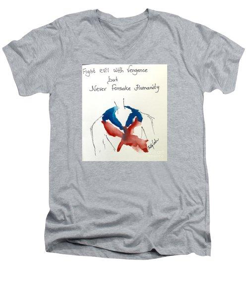 Men's V-Neck T-Shirt featuring the painting Paris, Pour Toi by Trilby Cole