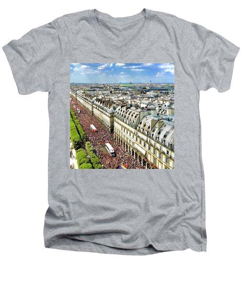 Paris Pride March 2018 Men's V-Neck T-Shirt