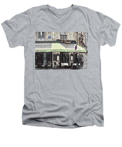 Paris - Restaurant Men's V-Neck T-Shirt
