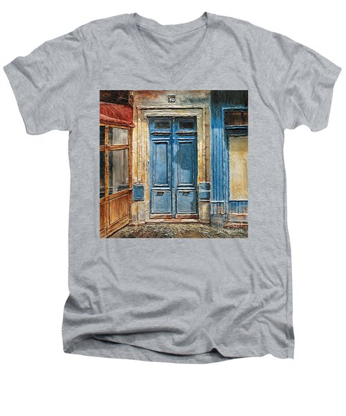 Parisian Door No.36 Men's V-Neck T-Shirt by Joey Agbayani