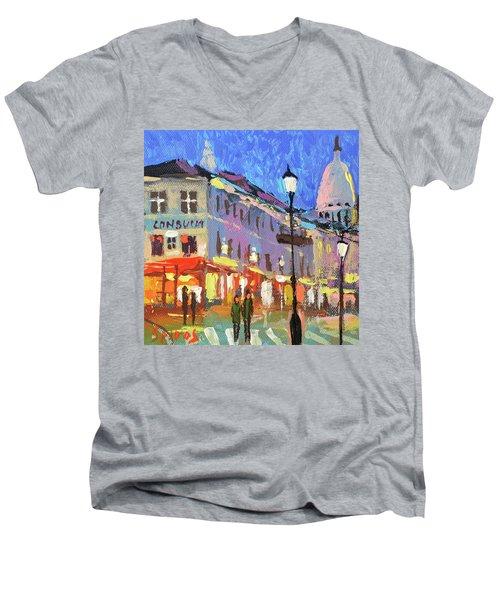 Parisian Street Men's V-Neck T-Shirt