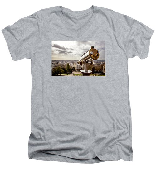Parisian View Men's V-Neck T-Shirt