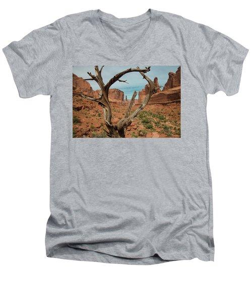 Men's V-Neck T-Shirt featuring the photograph Park Avenue by Gary Lengyel