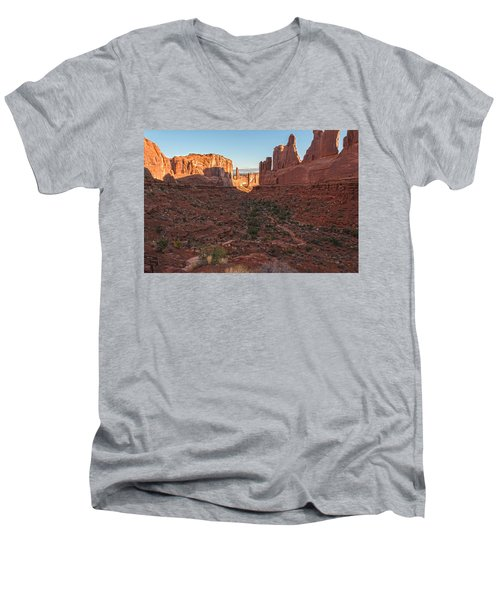Park Avenue Sunrise Men's V-Neck T-Shirt