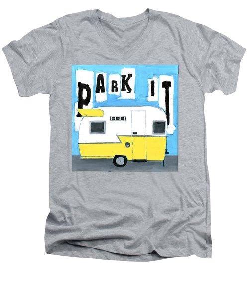 Park It-yellow Men's V-Neck T-Shirt