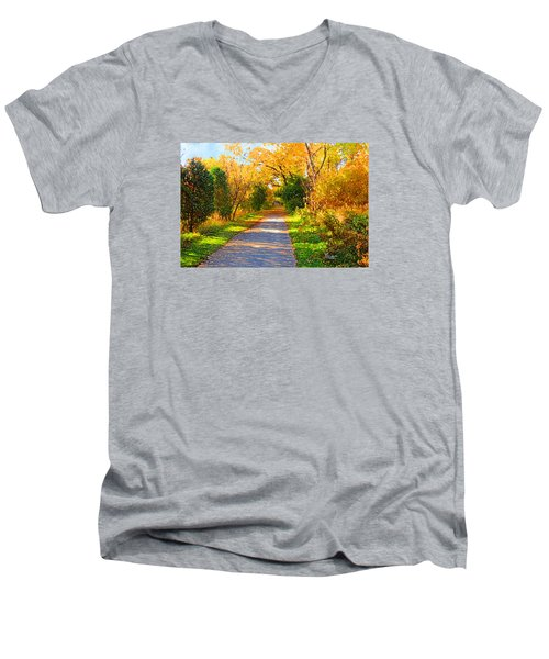 Park Path Men's V-Neck T-Shirt