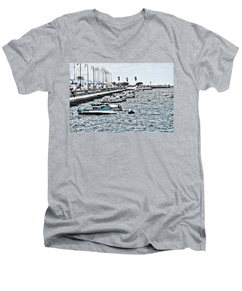 Parked And Waiting Men's V-Neck T-Shirt