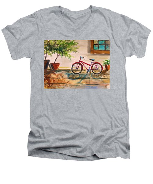 Parked In The Courtyard Men's V-Neck T-Shirt