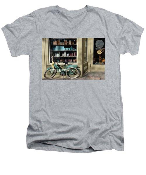 Parked Outside Men's V-Neck T-Shirt by Monte Stevens