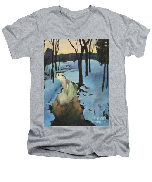 Parlee Farm Sunset Creek Men's V-Neck T-Shirt