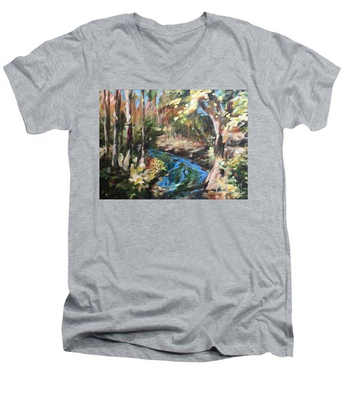 Parlee's Farm Fall Creek Men's V-Neck T-Shirt